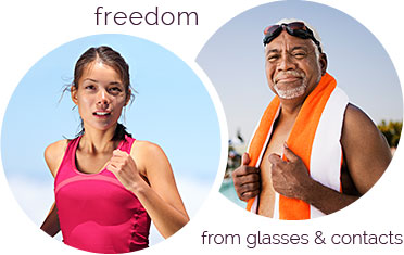 Freedom from glasses and contacts